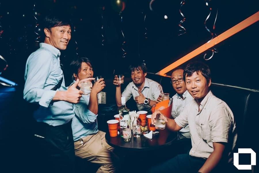 VIP table at GLOW club in Bangkok