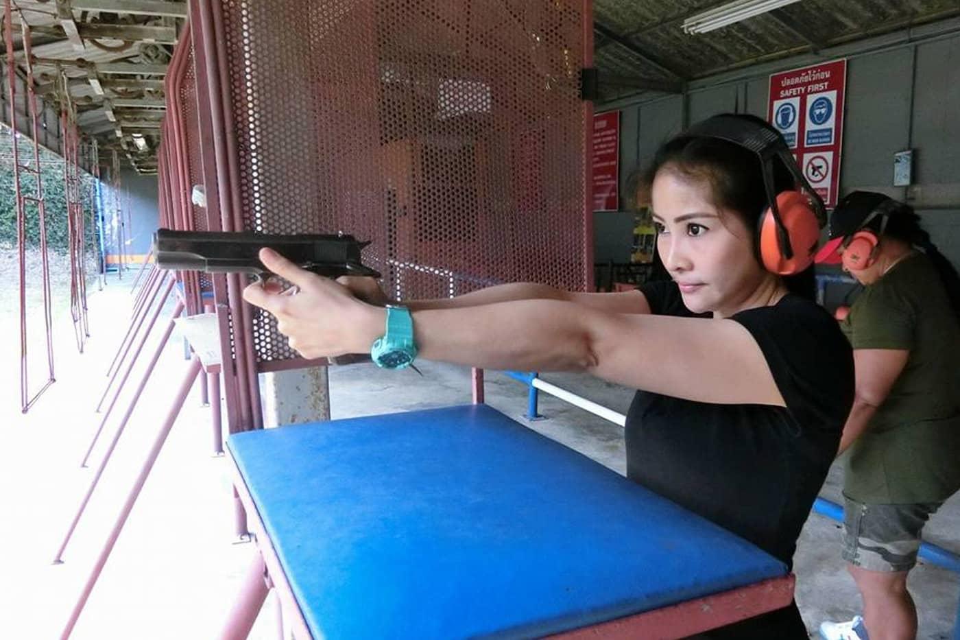 Girls at Pattaya Shooting Park