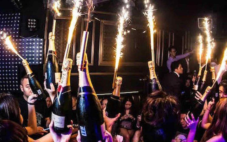 Champagne at Vip Nightclub