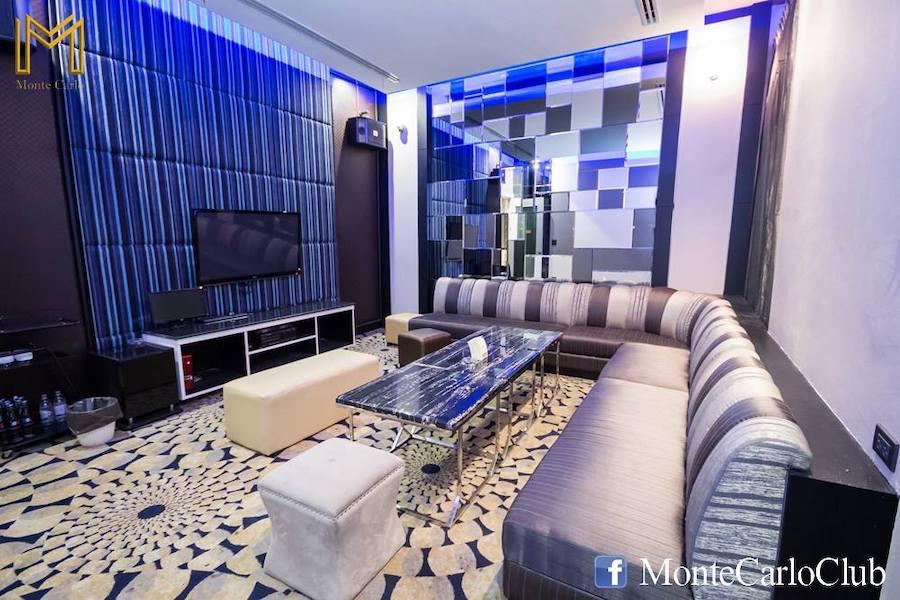 interior of a VIP private room at M Club gentlemen club in Bangkok