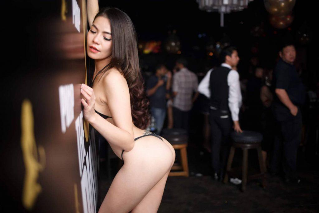 Sexy Stripper Posing with G string