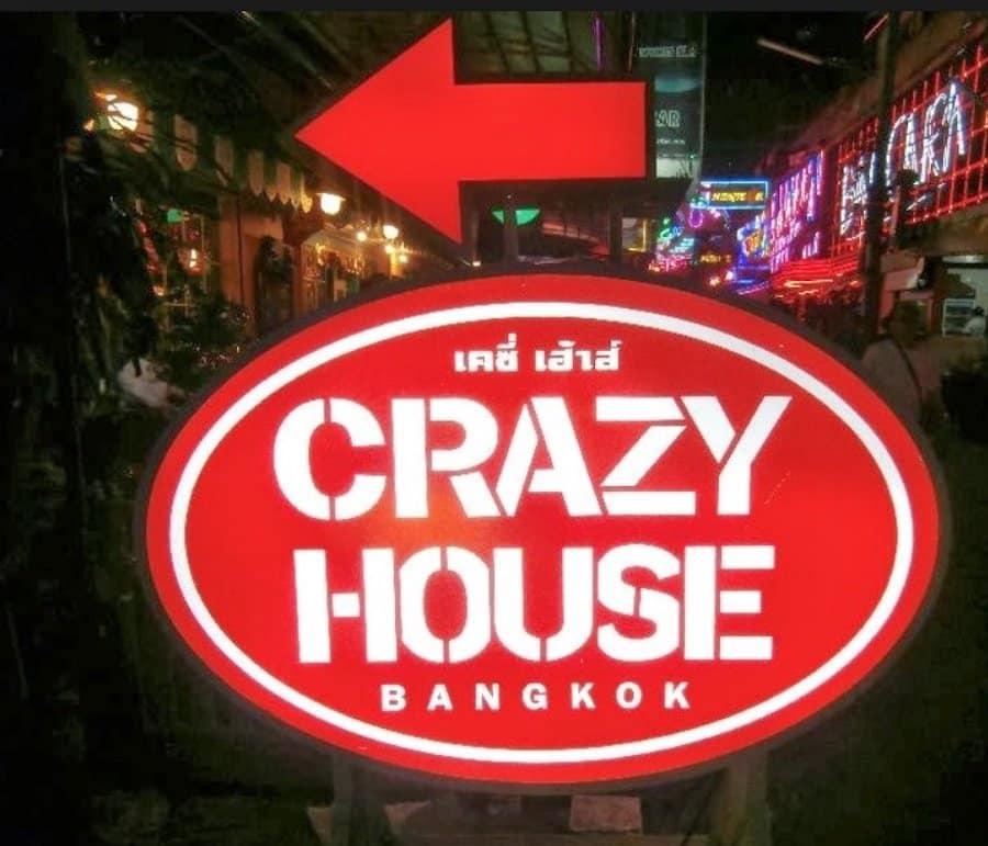 Crazy House Bangkok sign in Soi Cowboy Bangkok