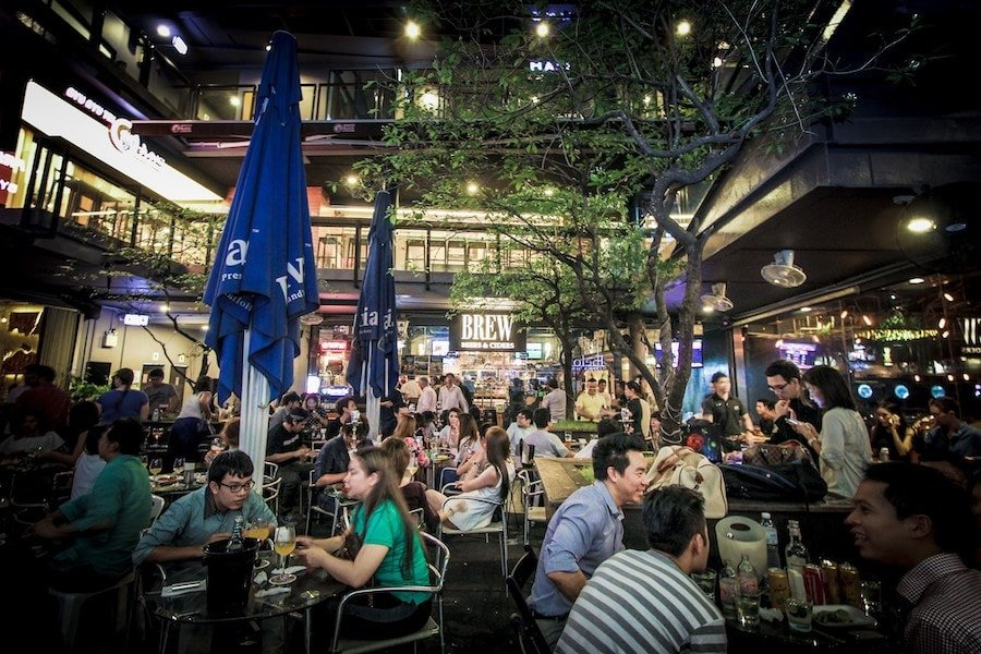 bars in the exterior in Thonglor Bangkok