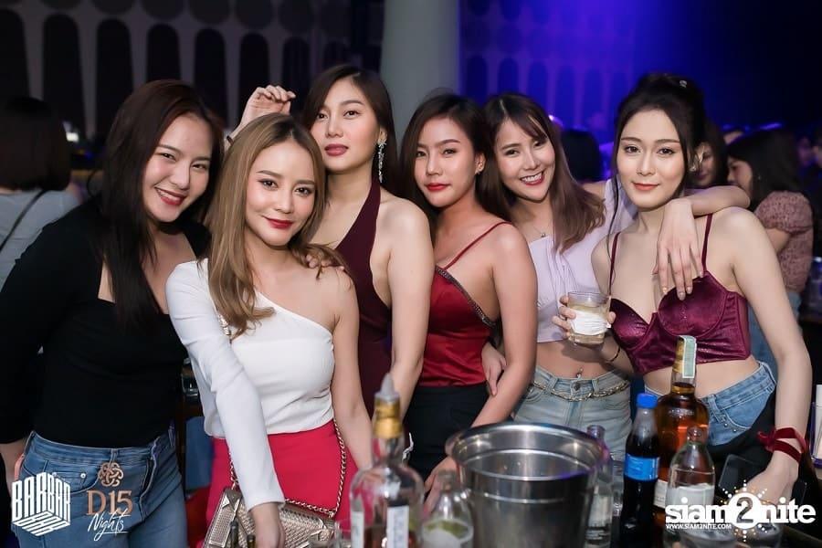 Beautiful Thai girls at Barbarbar Club in Thonglor Arena 10