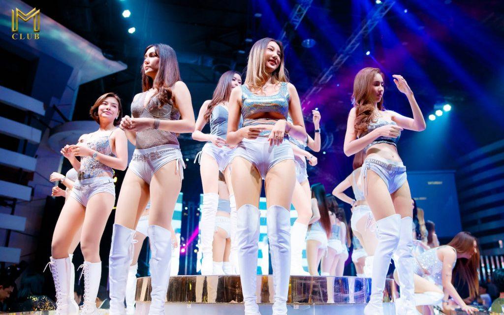 beautiful Thai girls on stage at M Club Bangkok