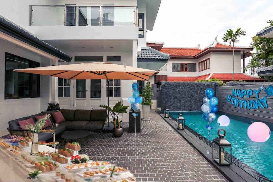 4 bedroom villa in Thonglor decorated for a birthday party