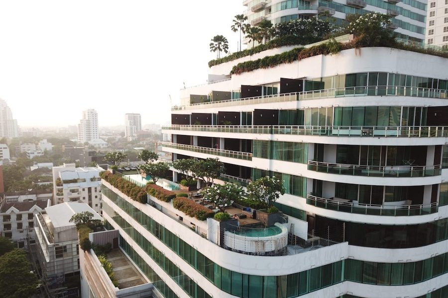 Hotel Akyra Thonglor seen from the sky