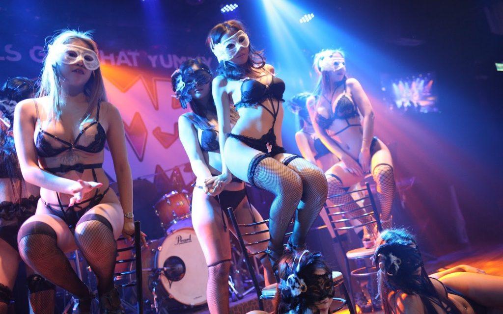 erotic shows at a club in Bangkok