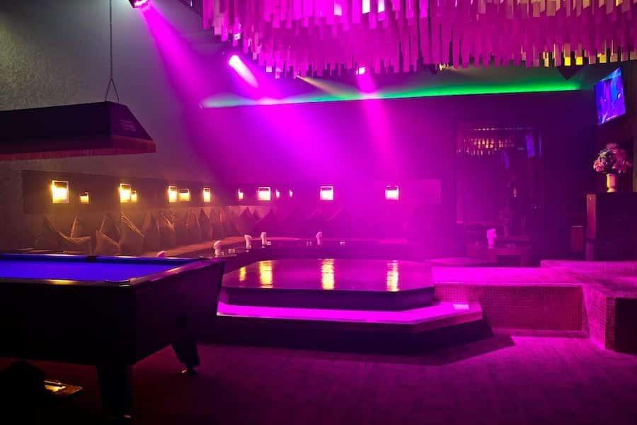 private vip room in a gentlemen club in Bangkok