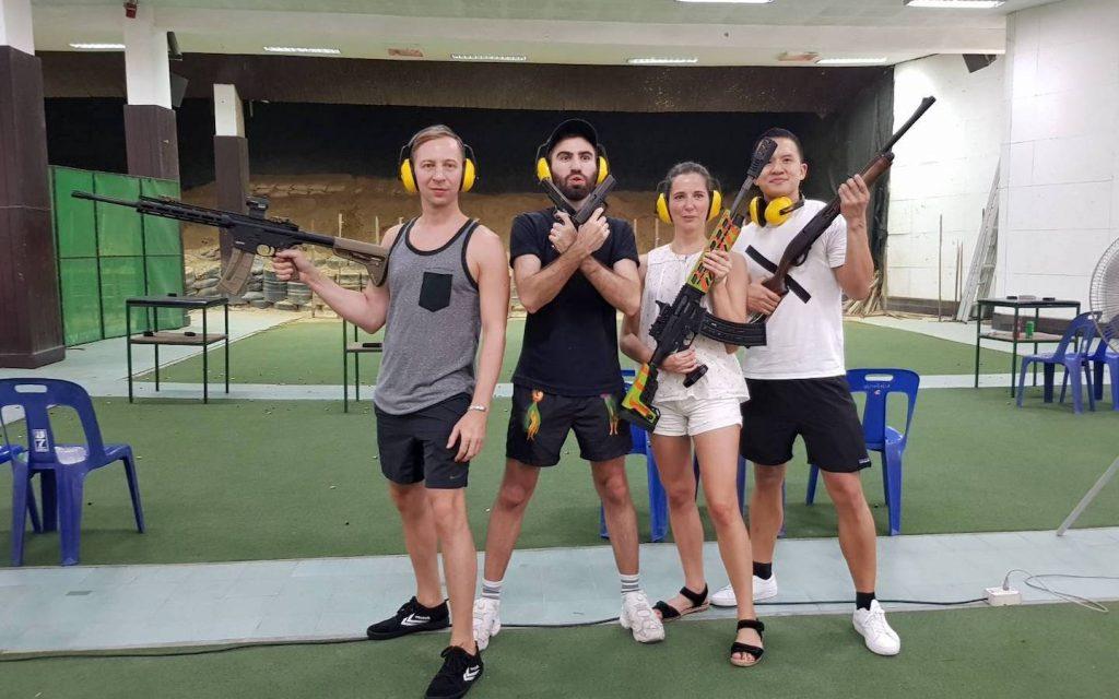 group at Bangkok shooting range in Bangkok