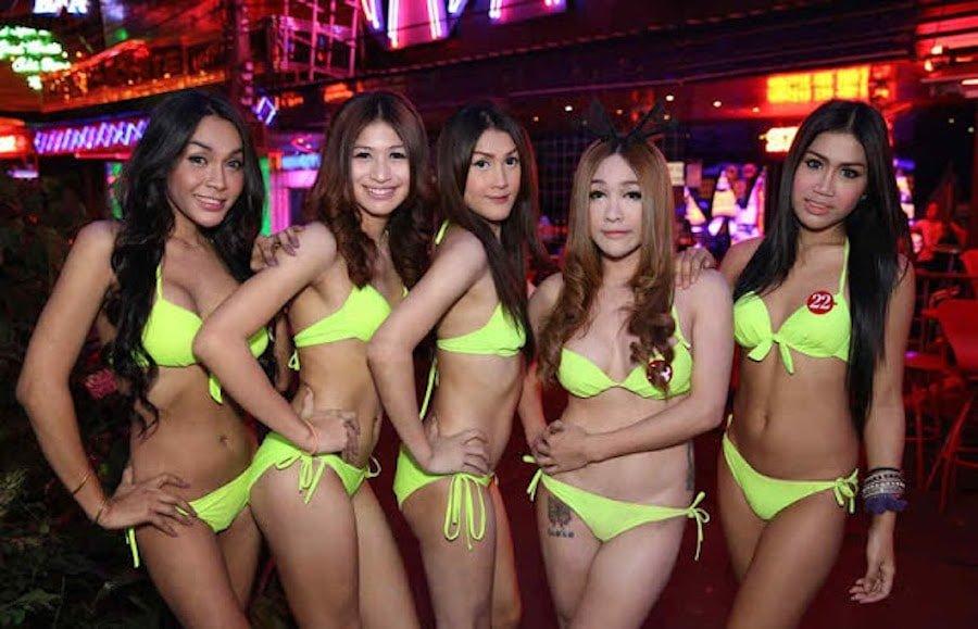 ladyboys in Bangkok at Nana Plaza entertainment complex