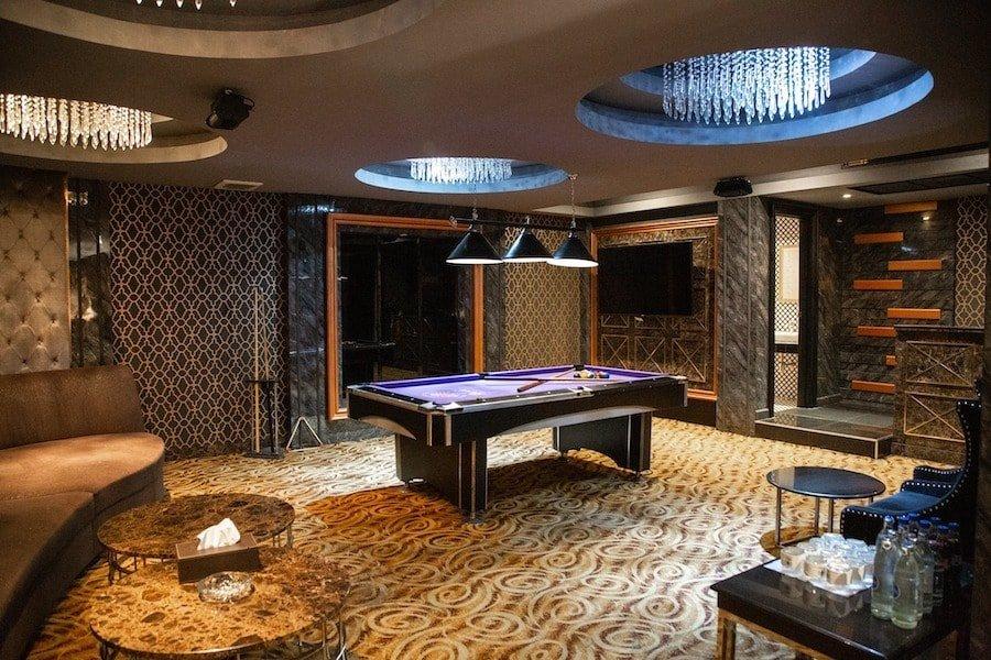 interior of a large VIP room at Dubai Luxury Club in Bangkok