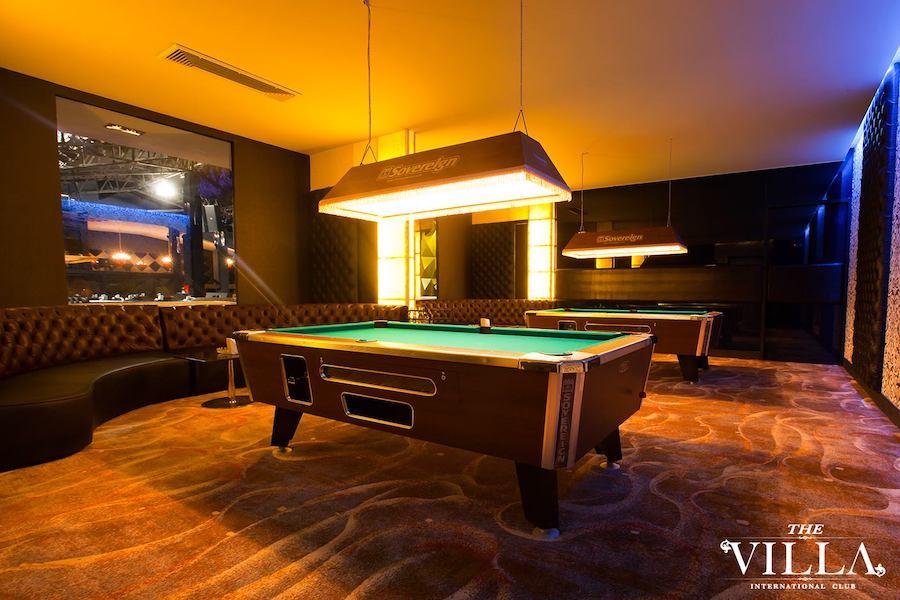 large vip room at the Villa International gentlemen club