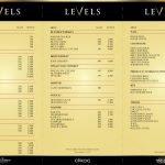 levels club Bangkok menu