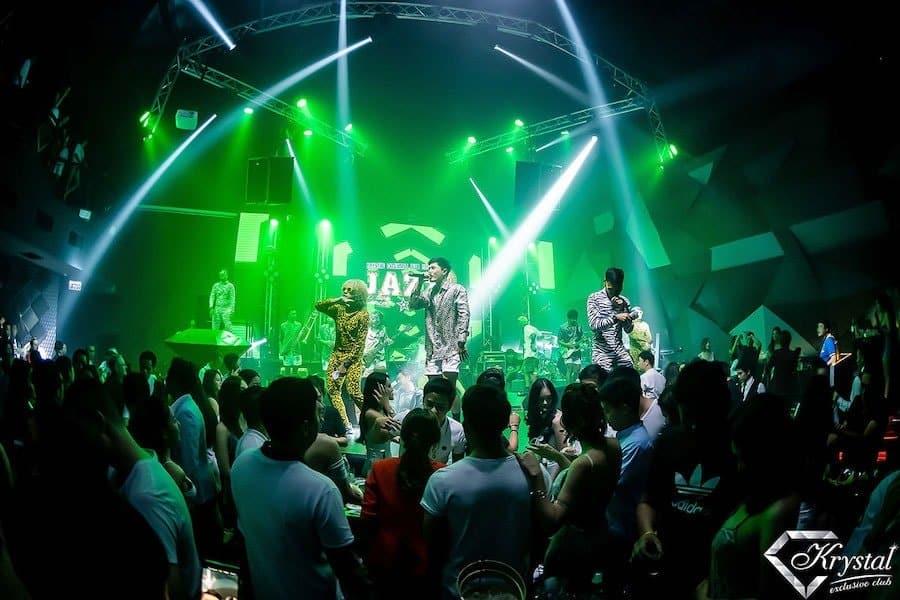 live band performing at Krystal Exclusive Club in Bangkok