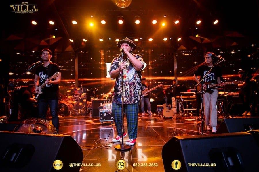 live performance at the Villa international club in Bangkok