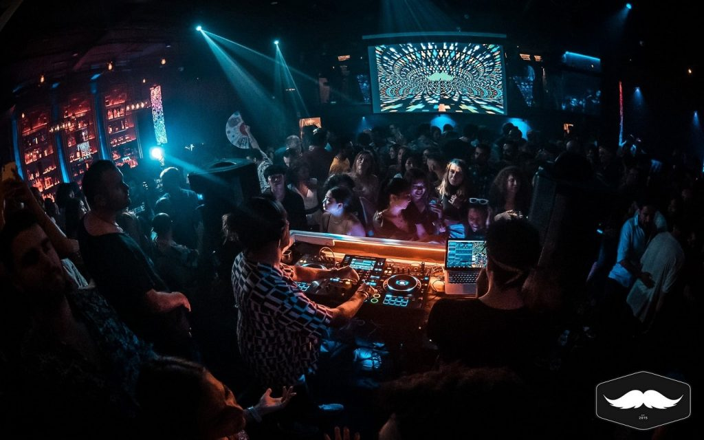 view from DJ booth of Mustache Bangkok