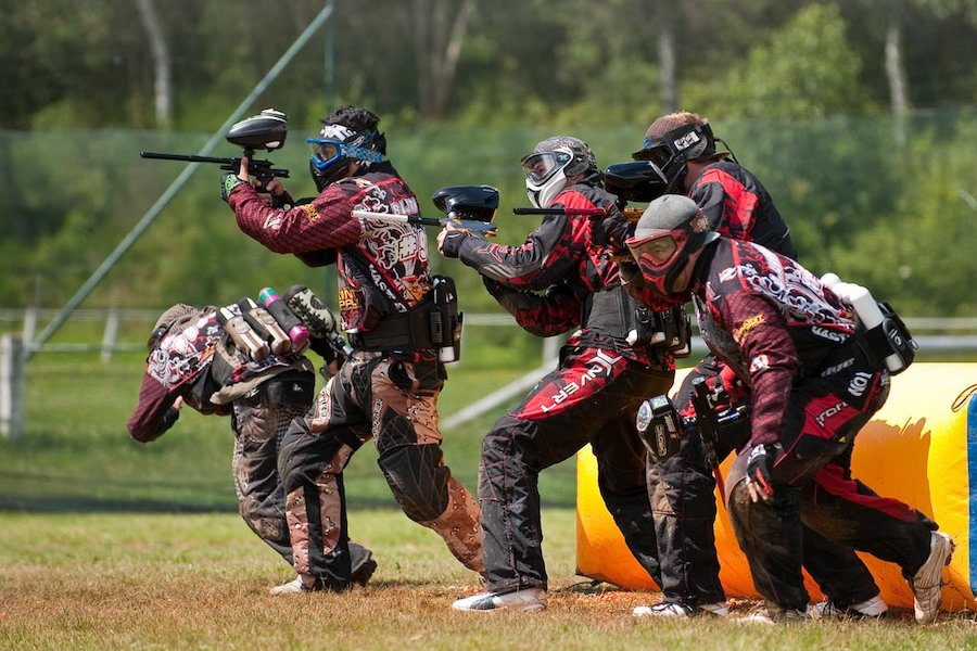 paintball team playing a game in Bangkok
