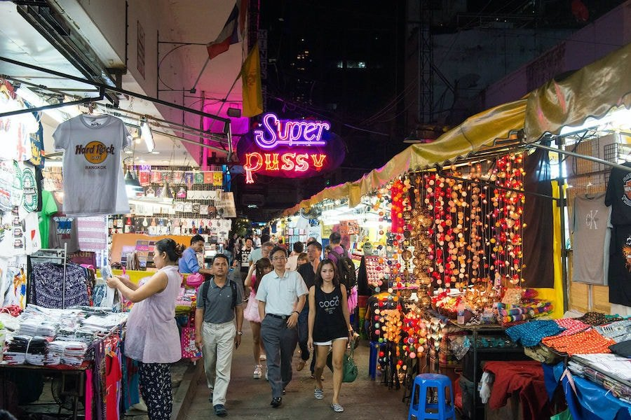 patpong night market and red light district in Bangkok