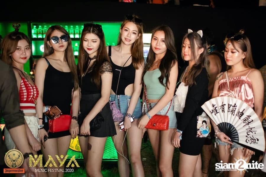 Thai girls at Maya Music Festival 2020 in Pattaya