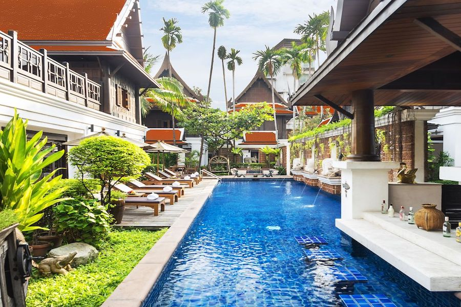 pool villas at Baan Davis in Bangkok