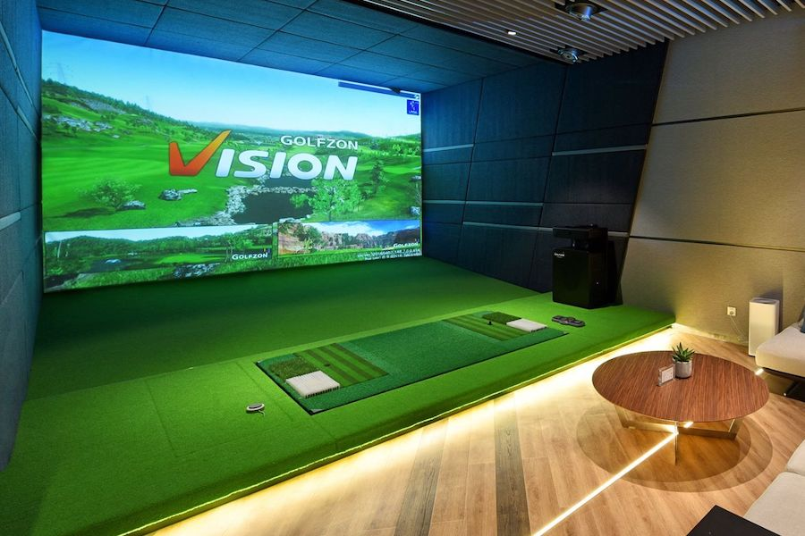 private golf simulator room for events in Bangkok