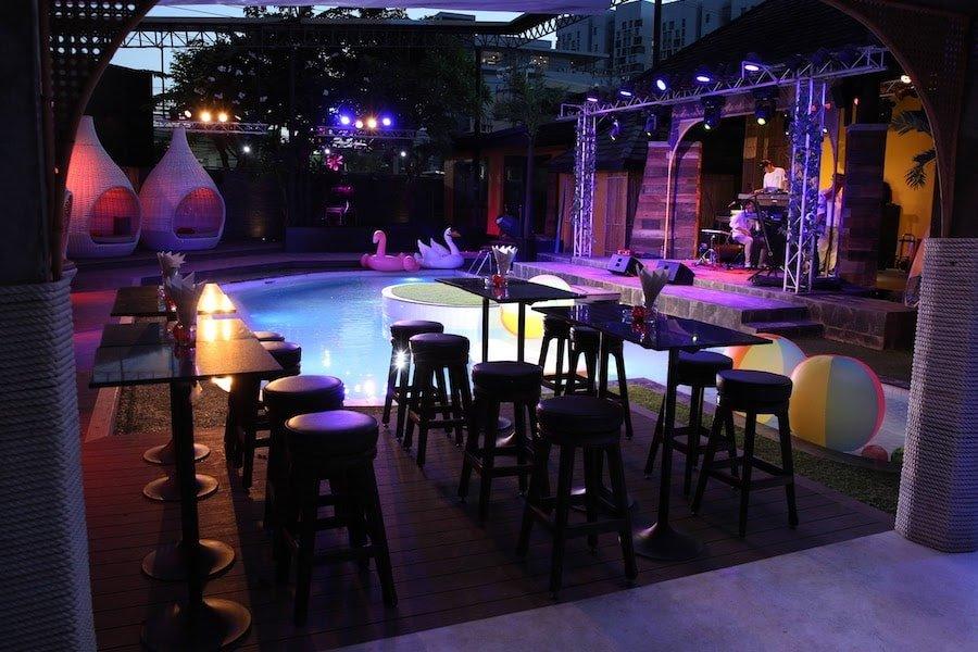 private pool area at The PIMP Bangkok