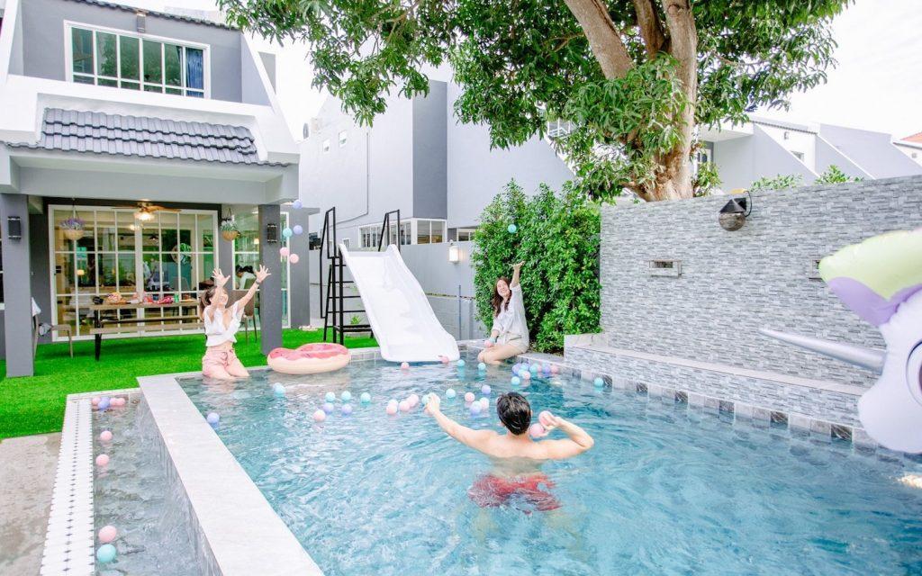 private party at a villa in Bangkok