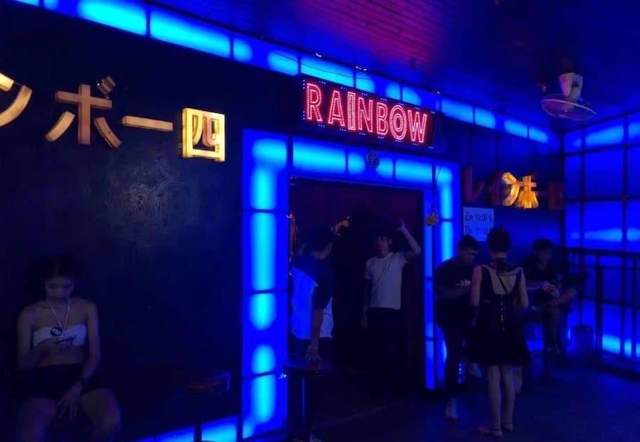 Rainbow gogo bar in Nana Plaza