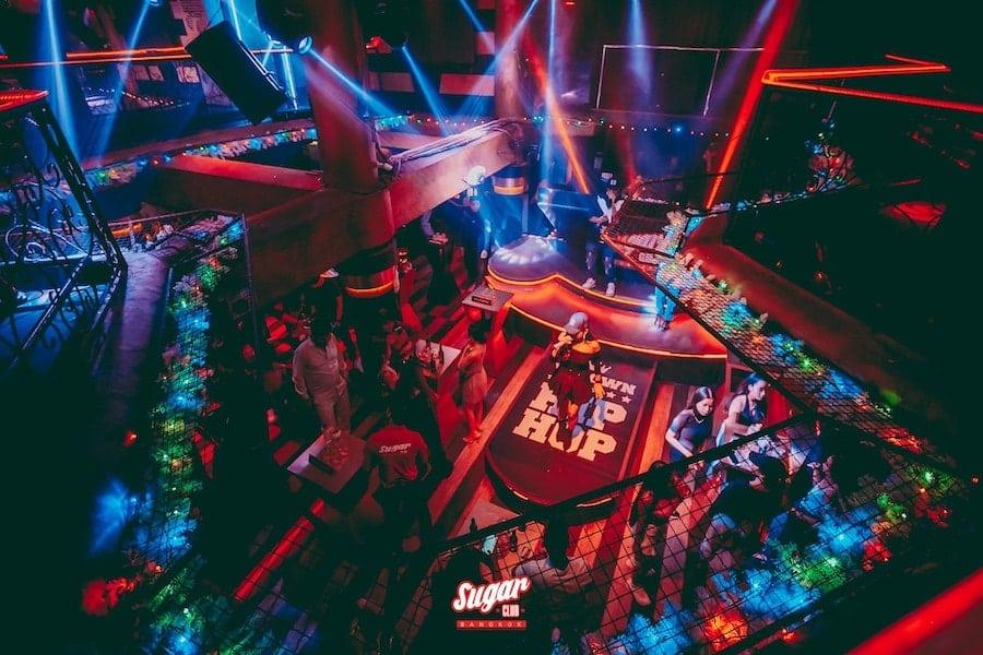 sugar club Bangkok stage from above