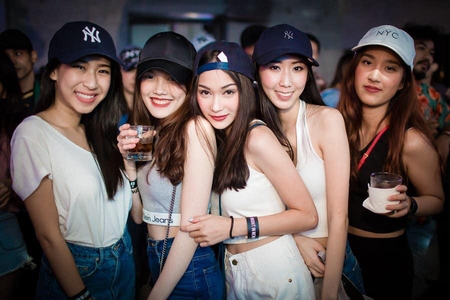 young Thai girls at BEAM Bangkok