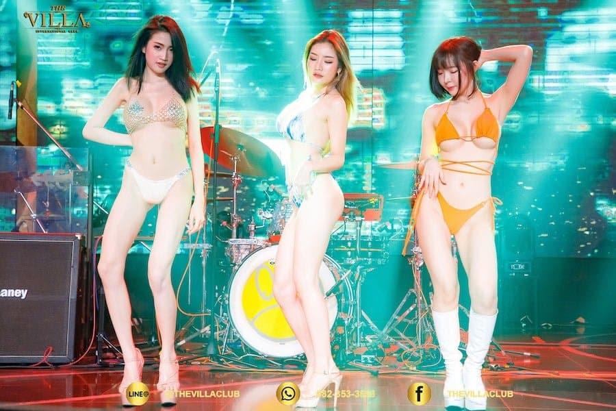 Thai bikini models at the Villa International Club in Bangkok
