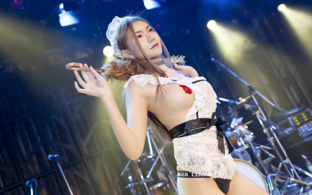Thai stripper with a french maid costume