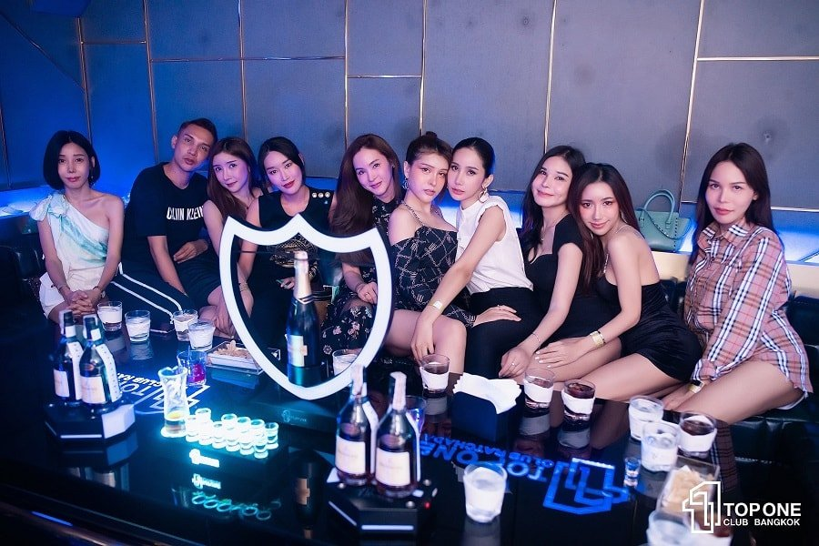 VIP table with Champagne at TopOne Club in Bangkok