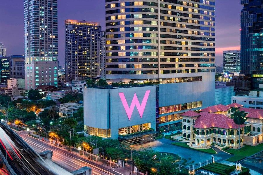 W Hotel Bangkok at night