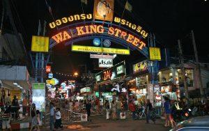 neon sign of Pattaya Walking Street entrance