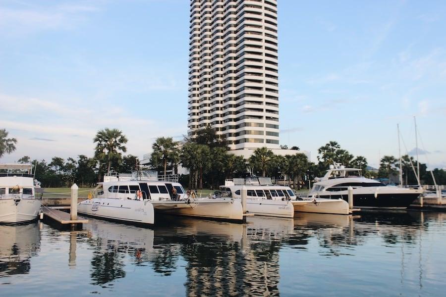 yachts in Pattaya ocean marina